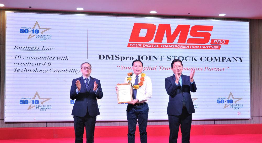 DMSpro nhan danh hieu Top 10 DN co nang luc 4.0 tieu bieu